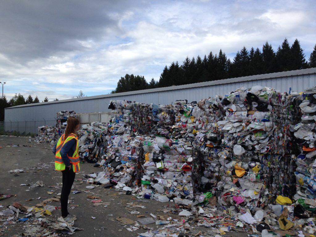 woman-at-recycling-facility
